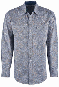 Stetson Brown Mirror Paisley Snap Shirt - Front