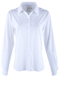 Lyssé Connie Slim Button-Down Blouse - Front