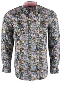 Pinto Ranch YY Collection Multi Floral Snap Shirt - Front