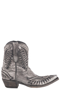 Old Gringo Women's Dawn Pipin Silver Metallic Boots - Side