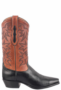 Tony Lama Signature Series Midnight Mont Blanc Chianti Boots - Side