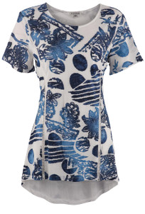 Adore Women's Abstract Print Top - Front
