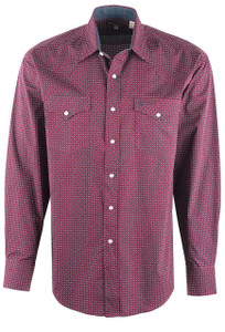Stetson Wine Diamond Dot Snap Shirt - Front