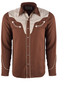 H Bar C Ranchwear Men's Brown San Juan Western Shirt  - Front