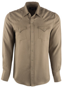 H Bar C Ranchwear Men's Denver Snap Shirt - Olive - Front