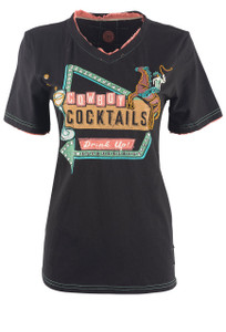 Double D Ranch Cowboy Cocktail Tee - Front