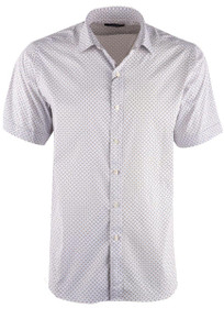 Bugatchi Chalk Geometric Performance Shirt - Front