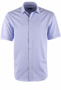 Bugatchi Lavender Check Performance Shirt - Front