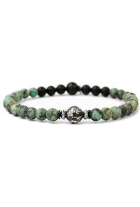 Kenton Michael Sterling Focal Bead and Stone Bracelet