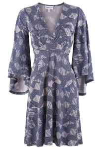 Veronica M. Flare Sleeve Dress - Front