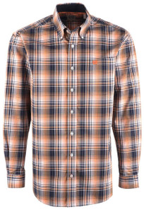 Cinch Men's Nectarine Plaid Shirt - Front