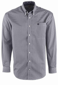 Cinch Men's Multi Weave Print Shirt - Front
