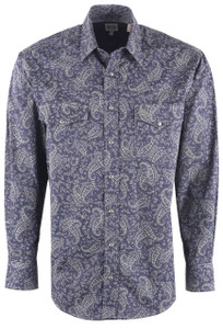 Cinch Men's Blue Pearl Paisley Shirt - Front