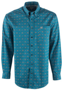 Cinch Men's Foulard Print Shirt - Front