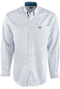 Cinch Men's Striped Tencel Shirt - Front