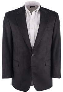Coppley Men's Black Microfiber Western Sport Coat - Front