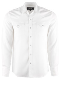 H Bar C Ranchwear Men's Denver Snap Shirt - White - Front