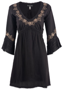 Gretty Zueger Embroidered Dress - Front