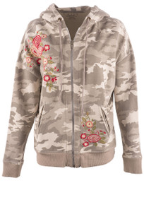 Caite Women's Shay Camo Hoodie - Front