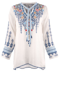 Adore Floral Embroidered Top - Front