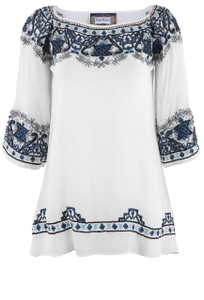 Vintage Collection Caroline Chiffon Top - Front