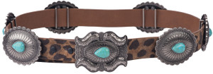 Lucky And Blessed Leopard Concho Belt
