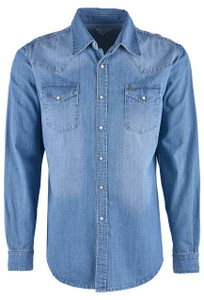 Stetson Light Blue Denim Shirt - Front