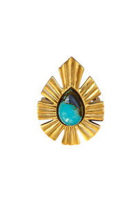 Christina Greene Behold Bold Statement Turquoise Ring - Front