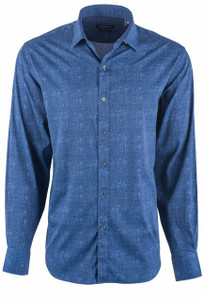Bugatchi Men's Navy Performance Shirt - Front