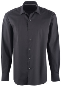 Bugatchi Men's Navy Jacquard Performance Shirt - Front