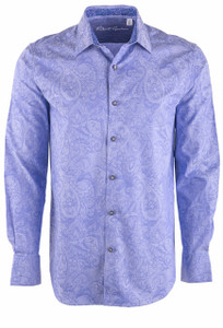 Robert Graham Andretti Paisley Print Shirt - Purple - Front