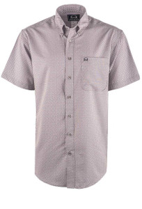 Cinch Men's Grey Print ArenaFlex Shirt - Front