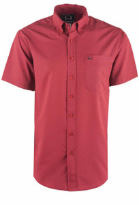 Cinch Men's Red Print ArenaFlex Shirt - Front