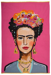 Karma Living Fuchsia Frida Tea Towel - Full