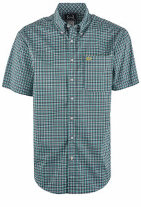 Cinch Men's Navy & Green Check ArenaFlex Shirt - Front