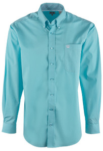 Cinch Men's Light Blue Plain Weave Shirt - Front