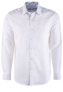 Robert Graham Sequential Long Sleeve Shirt - White - Front