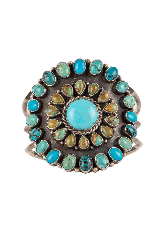 Rocki Gorman Circle of Life Multi Turquoise Cuff - Front