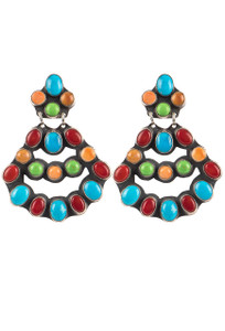 Rocki Gorman Multi Stone Large Chandelier Earrings