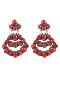 Rocki Gorman Red Coral Large Chandelier Earrings