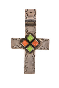 Rocki Gorman Multi Stone Cross Pendant