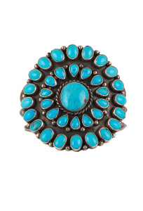 Rocki Gorman Circle of Life Blue Turquoise Cuff - Front