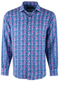 David Smith Flamingo Pink Tencel Shirt - Front