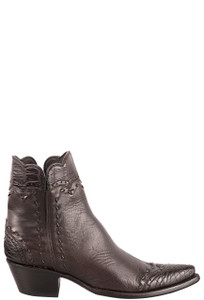 Stallion Women's Zorro Chocolate Gator Ankle Boots - Side