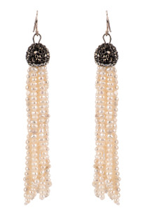Ticklebutton Jewels Small Pearl Tassel Earrings