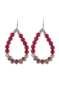 Ticklebutton Jewels Agate and Crystal Hoop Earrings