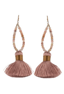Ticklebutton Jewels Short Silk Tassel Earrings