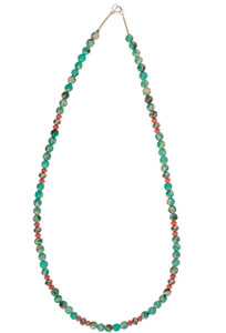 Ticklebutton Jewels Chrysoprase and Pink Coral Necklace