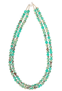 Ticklebutton Jewels Double Chrysoprase Necklace - Full
