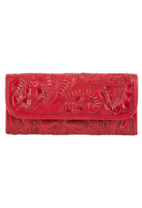 Hide and Chic Pepita Tooled Snap Wallet - Front